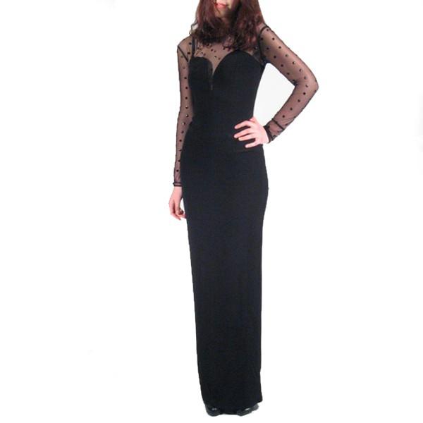 Vestito lungo nero pinko